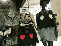 Shibuya 109 - gyaru department store in Tokyo. See photos of the cute, trendy gal brands including Liz Lisa at: http://www.lacarmina.com/blog/2013/04/shibuya-109-tokyo-gyaru-shopping-asia-designer-clothes-shoes/    crop top tokyo, heart pattern shirt