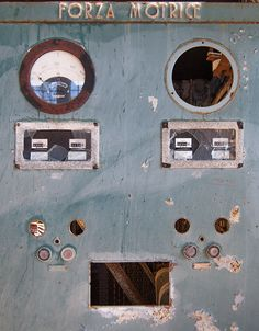 and yet it seems happy - electrical panel in the abandoned mine of capo calamita