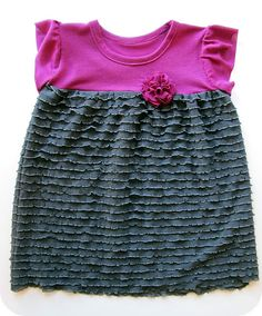 Playdate dress (have tutorial pinned) with ruffle fabric for the skirt Cute Girl Dresses, Super Cute Dresses, Little Girl Dresses, Sewing Ruffles, Ruffle Fabric, Ruffle Dress, Diy Clothing, Sewing Clothes, Girlie Clothes