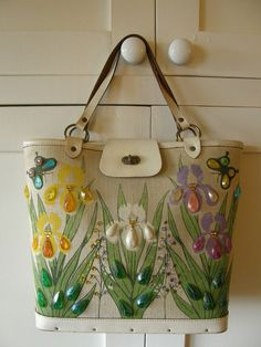Enid Collins vintage handbag tote / bucket bag Sweet Inspirations 1950s 1960s