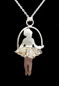 Filigree BALLERINA stearling silver necklace.    HANDMADE.     AVAILABLE: www.jewelsdontshine.com www.etsy.com/shop/jewelsdontshine http://www.storenvy.com/stores/18098-jewels-dont-shine jewelsdontshine@gmail.com