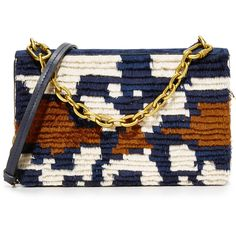 Tory Burch Sadie Shoulder Bag ($500) ❤ liked on Polyvore featuring bags, handbags, shoulder bags, multi, leather shoulder bag, leather purses, shoulder handbags, tory burch purse and retro purses