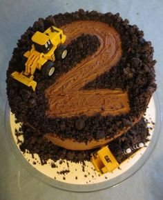Inspiration Picture of Kids Construction Birthday Cake . Kids Construction B. Inspiration Picture of Kids Construction Birthday Cake . Kids Construction Birthday Cake Easy C Second Birthday Cakes, Truck Birthday Cakes, Dump Truck Cakes, Birthday Cake Kids Boys, Tractor Birthday, Second Birthday Ideas, Birthday Banners, 25th Birthday, Birthday Images