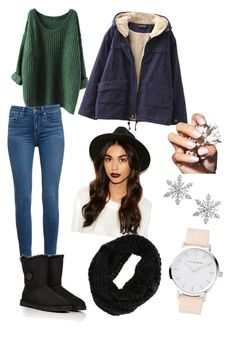 Untitled #101 by eugnie on Polyvore featuring polyvore fashion style Chicnova Fashion Paige Denim UGG Australia Van Cleef & Arpels Missguided