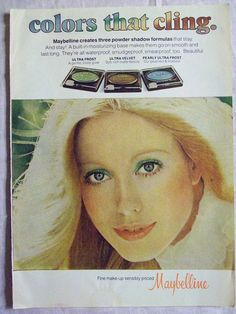 1977 Magazine Advertisement Page Maybelline Eye Shadow Makeup Woman Vintage Ad | eBay