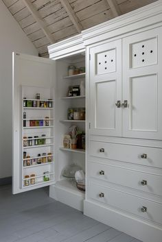 Our Larder Armoires are a destination for food and crockery Classic Middleton Kitchen | handmade kitchens| www.middleton-bespoke.co.uk