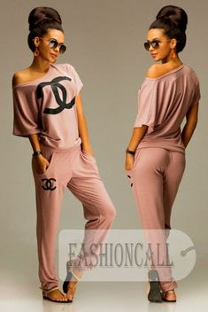 Sexy light one shoulder women Chanel logo sportswear. Very light sexy one shoulder quarter sleeve women sportswear for you. Sporty Outfits, Swag Outfits, Chic Outfits, Fashion Outfits, Womens Fashion, Fashion Top, Chanel Logo, Chanel Chanel, Jogging Style