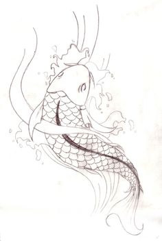 Coloriage dessin poisson carpe koi sur for Coy poisson