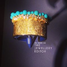One of my favourite cuffs from @piagetbrand at #biennaleparis #gold #turquoise #cufflove #cuffs See lots more at www.instagram.com/thejewelleryed