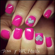 Embellishing your nails is actually lots of fun. It'll make a fashion statement. Explore the latest trends and styles to keep you up-to-date. Love Nails, Pink Nails, Glitter Nails, My Nails, Pretty Nails, Pink Nail Art, Shellac Nails, Matte Nails, Stiletto Nails