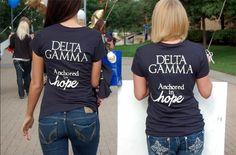 anchored in hope! cute bid day shirt!