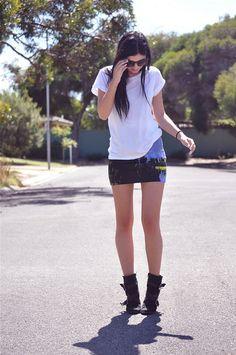 Le Flassh in the Becka Landscape Skirt