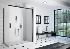 #NEW 8 Series Colour - Matt Black #Colour #Shower #Bathroom #Luxury #MattBlack #ShowerDoor #MerlynShowering