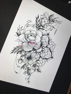 Bff Tattoos, Hip Tattoos Women, Girl Arm Tattoos, Neue Tattoos, Body Art Tattoos, Sleeve Tattoos, Cute Wrist Tattoos, Geometric Mandala Tattoo, Mandala Flower Tattoos