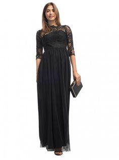 10e1077f51a5 Černé plesové šaty Chi Chi London Tanni Krásné společenské šaty vhodné na  plesy či galavečery