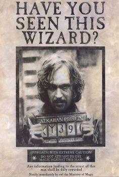 Harry Potter: Sirius Black, você viu este feiticeiro?