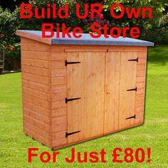 Bike Storage Shed Plans   Bike-Shed-Garden-Shed-Storage-Bulild-Your-Own-Plans-Lean-To-2-4m-X-1m ...