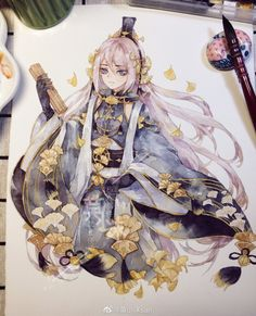 Anime Drawings Sketches, Art Drawings, Manga Anime, Anime Art, Korean Anime, V Cute, Cute Art Styles, Cute Anime Character, Paper Drawing