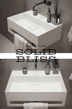 Solidbliss-60TB Wall mounted washbasin Code: 290309 Size: L600xW400xH200mm Solid Surface white matt