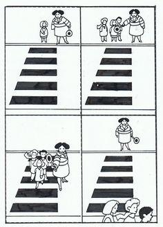 .Tijdsvolgorde 'zebrapad oversteken'