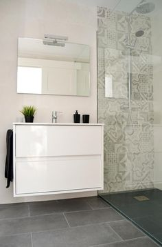 mosaic/pattern/colour for a shower that stands out