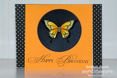 Copic Markers Birthday Butterfly by Debbie Davis Amped2Stamp.com/Amuse Studio