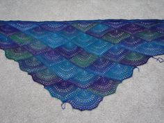 Ravelry: Panda Silk DK Fan Shawl pattern by Gail Tanquary