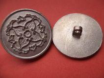 7 Metallknöpfe silber 24mm (4806-6) Knöpfe Metall