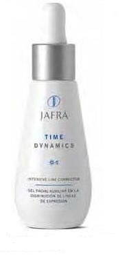 Jafra Time Dynamics Intensive Line Corrector 1.0 fl. oz. by Jafra. $17.90. An effective complex that offers a safe, noninvasive alternative to decreasing the appearance of expression lines caused by constant facial movements. Provides an immediate lift perception. Contains highly sophisticated ingredients such as nanosomes and peptides derived  from biotechnological synthesis, marine sources, and botanical origins. Suitable for all skin types (including sensitive ...