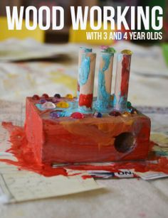 Reggio inspired wood working with three and four year olds