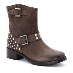Boots en cuir nubuck, cloutées, Buffalo