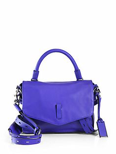 THIS COLOR IS amazing.  Ellie Belted Strap Mini Crossbody Bag
