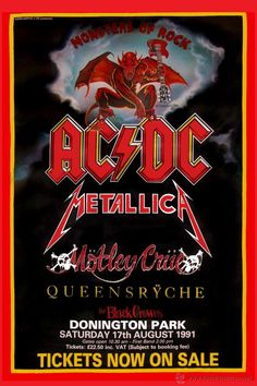Resultado de imagen de carteles de conciertos de rock