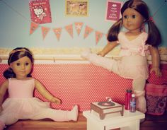 Here's a tutorial for Creating a Dance Studio w/Barre | live.life.create.art These are wonderful backdrops for photographing your dolls. She shows you the basics, and you can add the details to make any backdrop you desire.