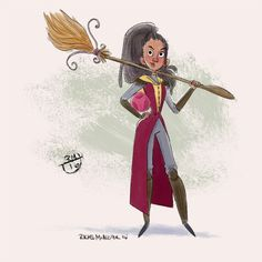 A quickie Angelina Johnson for the Harry Potter Challenge this week :)
