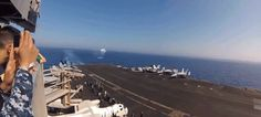 Watch This: F/A-18 Breaks The Speed Of Sound In Aircraft Carrier Flyby