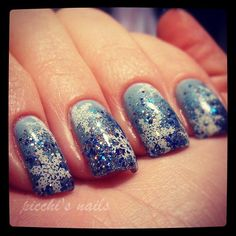 """Essence """"Sure Azure"""" with Essence """"Gleam in Blue"""" and Mavala """"Sparkling Blue"""" with stamping in konad SP white, m59. #nail #polish"""