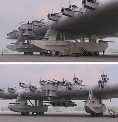 The Kalinin K-7, a Russian bomber plane concept from the 1930's