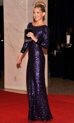 Me encanta el vestido que acompaño Kate Hudson para la cena de gala con Obama