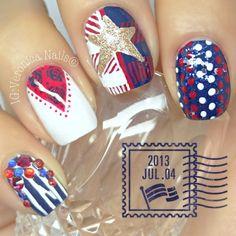 Fourth of July nail art