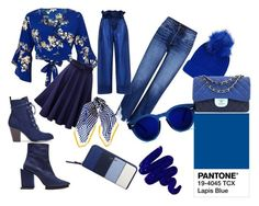 """""""lapis blue"""" by maafee18 on Polyvore featuring moda, Topshop, Obsessive Compulsive Cosmetics, 3x1, River Island, Chanel, Nine West, Black, STELLA McCARTNEY e Toga"""