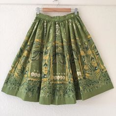Can-Can Dancers Novelty Print Skirt