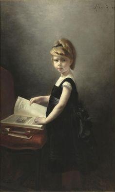 Fillette feuilletant un livre Besnard Albert (dit), Besnard Paul Albert (1849-1934) Paris, musée d'Orsay
