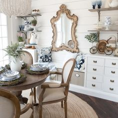 Glean some clever spring decorating tips on how to create a beautiful and budget friendly spring dining room! Clever Decorating Tips for Your Spring Dining Room Spring is finally in the air and Easter is right around the corner! A special welcome if you are visiting fromMaison de Cinqin today's spring blog hop! Decorating a …