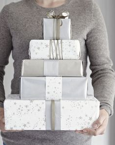 Shop for Christmas Wrapping Paper at The White Company today, our exquisite collection is sure to help make your gift extra special. Silver Christmas, Christmas Colors, Christmas Holidays, Christmas Gifts, Creative Gift Wrapping, Present Wrapping, Creative Gifts, Wrapping Ideas, Christmas Trimmings
