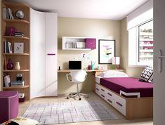 Rimobel Modern Corner Wardrobe, Storage Bed and Desk