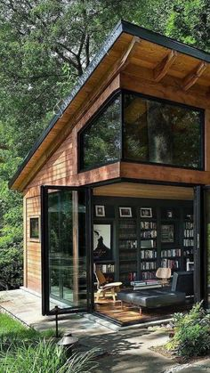Lakeside Lodge, Lakeside Living, Wood Cabins, On Golden Pond, Tiny House Exterior, House In Nature, Home Board, Granny Flat, Unique Architecture