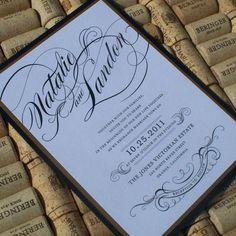 Vintage Hollywood Glam Wedding Invitation on by JenSimpsonDesign