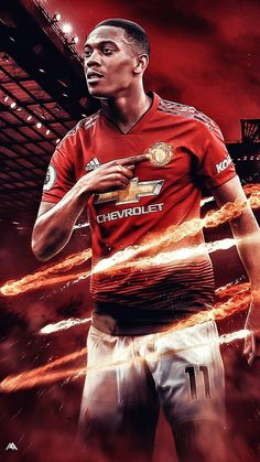 Manchester United Wallpaper, Manchester United Team, Ronaldo Football, Football Tops, Good Soccer Players, Football Players, Anthony Martial, Sports Graphic Design, Football Wallpaper
