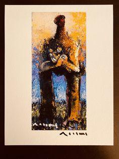 """Giclee Art Print: MUTATIO """"Patience No.1"""", Limited Edition Hand Signed Art Print Oil Painting On Paper, Acrylic Painting Canvas, Sumi Ink, Limited Edition Prints, Line Drawing, Patience, Printable Art, Giclee Print, Authenticity"""